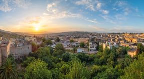 Panoramic view of Fes royalty free stock photo