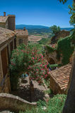 Panoramic view of the fields and hills of Provence in Gordes Royalty Free Stock Photography