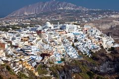Panoramic view of Fira, Santorini Royalty Free Stock Photography