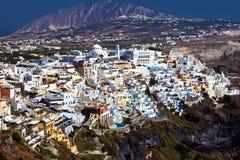 Panoramic view of Fira Thira, Santorini Stock Images