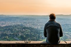 Panoramic view of Firenze from Fiesole Royalty Free Stock Images