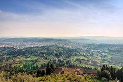 Panoramic view of Firenze from Fiesole Royalty Free Stock Photo