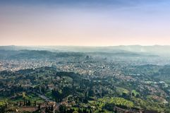 Panoramic view of Firenze from Fiesole Royalty Free Stock Photos