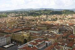Panoramic view Firenze. Tuscany. Italy Royalty Free Stock Image