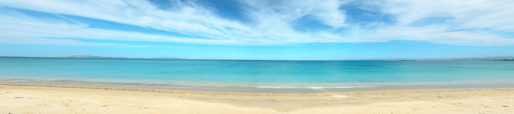 Panoramic view of Fiume Santo beach Stock Photography