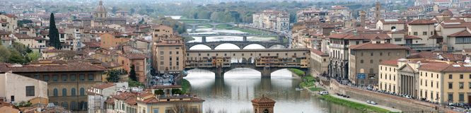 Panoramic View of Florence Royalty Free Stock Image