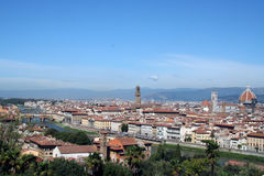 Panoramic view of Florence. View from the bird's eye view of Florence stock image