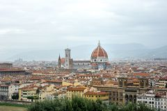 Panoramic view of Florence cityscape and Cathedral, Tuscany, Italy Stock Photography