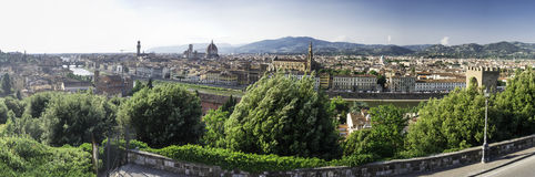 Panoramic view of Florence Royalty Free Stock Photo