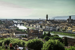 Panoramic view of Florence Royalty Free Stock Photography