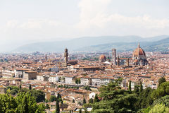 Panoramic view of Florence Stock Images