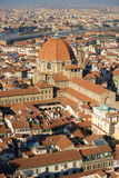 Panoramic view of Florence f stock image