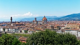 Santa Maria del Fiore, Florence, Italy. Panoramic view of Florence featuring the Cathedral, or Duomo, of Santa Maria del Fiore, Florence, Tuscany, Italy Royalty Free Stock Photography