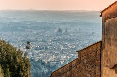 Panoramic view of Florence from Fiesole. Tuscany, Italy Stock Photo