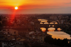 Panoramic view of Florence Stock Photos