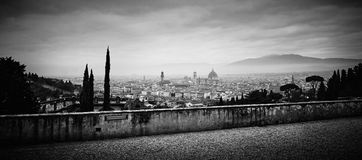 Panoramic view of Florence, Italy. Stock Image