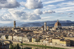 Panoramic view of Florence - Italy Royalty Free Stock Image