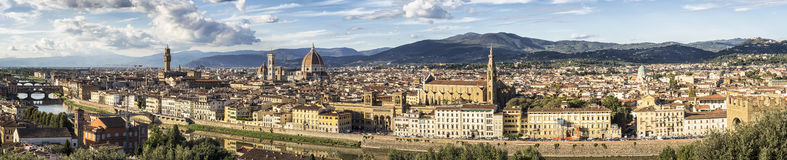 Panoramic view of Florence - Italy Royalty Free Stock Photography