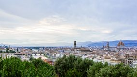 Panoramic View of Florence, Italy at Dusk royalty free stock photo