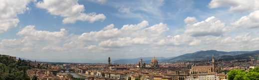 Panoramic View of Florence, Italy Stock Images