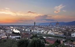 Panoramic view of Florence, italy Stock Photography