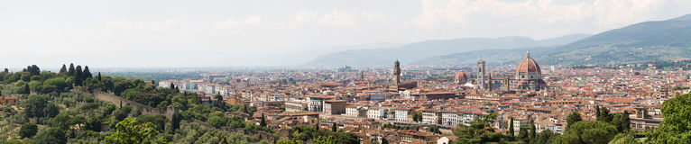 Panoramic view of Florence Stock Photos