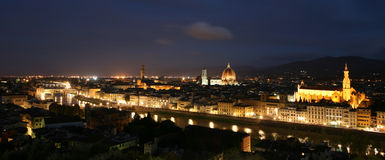 Panoramic view of Florence at night Royalty Free Stock Photography