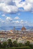 Panoramic view of Florence from Piazzale stock photo