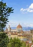 Panoramic view of Florence from Piazzale royalty free stock photo