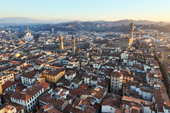 Panoramic view of Florence at sunset. Royalty Free Stock Photos