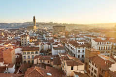 Panoramic view of Florence at sunset Stock Photography
