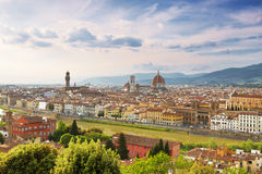 Panoramic view of Florence at sunset Royalty Free Stock Image