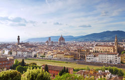 Panoramic view of Florence at sunset. Stock Images