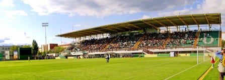 Panoramic view of football stadium Royalty Free Stock Photos