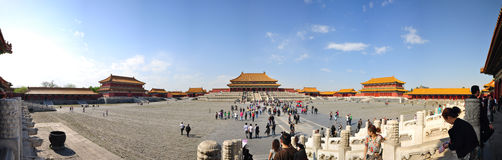 Panoramic view of forbidden city Royalty Free Stock Photos