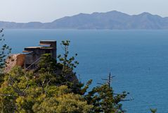 Panoramic view form the hill on Magnetic Island... royalty free stock photo