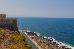 Panoramic view of Fortezza Castle and Mediterranean Sea & x28;Sea of Stock Images