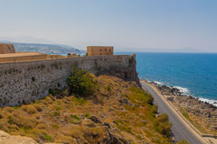 Panoramic view of Fortezza Castle and Mediterranean Sea & x28;Sea of Stock Photo
