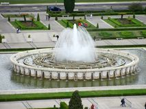 Panoramic view of Fountain on Empire Square royalty free stock photo
