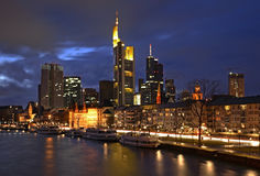 Panoramic view of Frankfurt am Main. Germany Royalty Free Stock Photos
