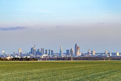 Panoramic view of Frankfurt skyline Royalty Free Stock Image