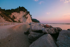 Panoramic view of Frati beach, Monte Conero Royalty Free Stock Photos