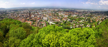Panoramic view of Freiburg im Breisgau city, Germany Royalty Free Stock Photos