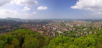 Panoramic view of Freiburg im Breisgau, Germany Stock Image