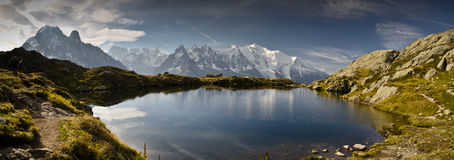 Panoramic view of French Alps Royalty Free Stock Photography