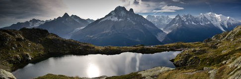 Panoramic view of French Alps Stock Images