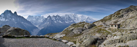 Panoramic view of French Alps Stock Photography