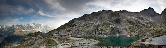 Panoramic view of French Alps royalty free stock images