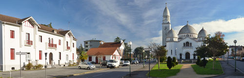 Panoramic view of the French city Pau Stock Photo