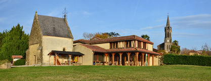 Panoramic view of the French village Lupiac in Gascony Royalty Free Stock Image